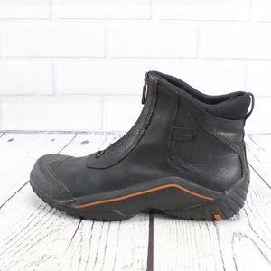 Clarks Muckers Black Leather Zip Waterproof Boots